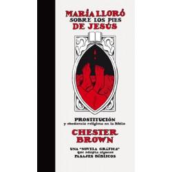 MARIA LLORO SOBRE LOS PIES DE JESUS
